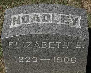 HOADLEY, ELIZABETH E. - Lorain County, Ohio   ELIZABETH E. HOADLEY - Ohio Gravestone Photos