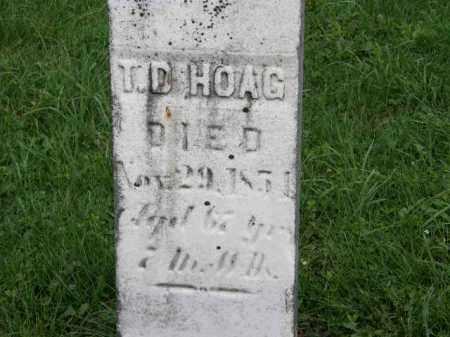 HOAG, T.D. - Lorain County, Ohio | T.D. HOAG - Ohio Gravestone Photos