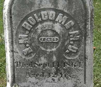 HOLCOMB, R. M. - Lorain County, Ohio | R. M. HOLCOMB - Ohio Gravestone Photos