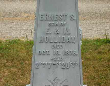 HOLLIDAY, E. - Lorain County, Ohio | E. HOLLIDAY - Ohio Gravestone Photos