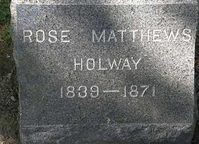 HOLWAY, ROSE - Lorain County, Ohio   ROSE HOLWAY - Ohio Gravestone Photos