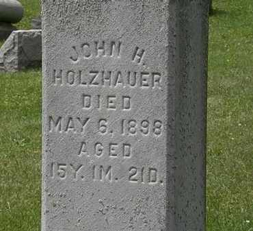 HOLZHAUER, JOHN H. - Lorain County, Ohio   JOHN H. HOLZHAUER - Ohio Gravestone Photos