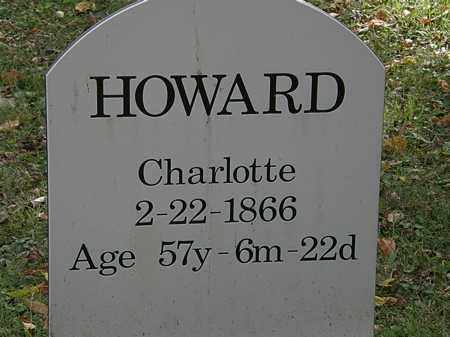HOWARD, CHARLOTTE - Lorain County, Ohio | CHARLOTTE HOWARD - Ohio Gravestone Photos