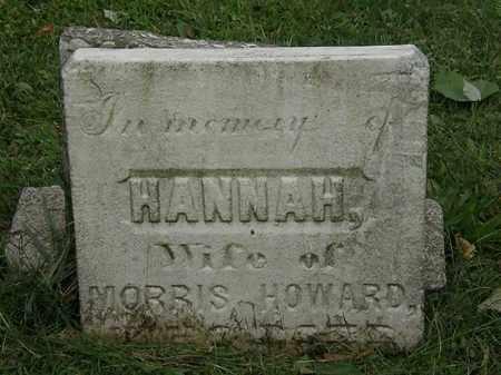 HOWARD, HANNAH - Lorain County, Ohio | HANNAH HOWARD - Ohio Gravestone Photos