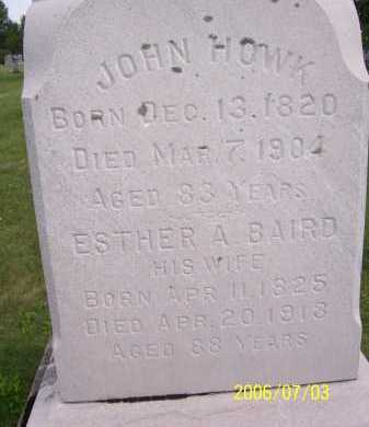 BAIRD HOWK, ESTHER - Lorain County, Ohio | ESTHER BAIRD HOWK - Ohio Gravestone Photos