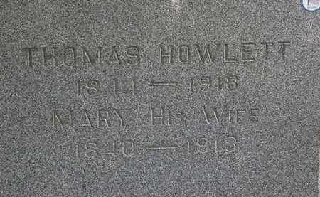 HOWLETT, MARY - Lorain County, Ohio | MARY HOWLETT - Ohio Gravestone Photos
