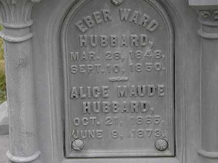 HUBBARD, EBER WARD - Lorain County, Ohio | EBER WARD HUBBARD - Ohio Gravestone Photos