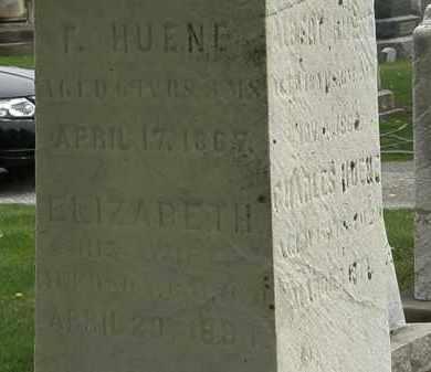 HUENE, F. - Lorain County, Ohio | F. HUENE - Ohio Gravestone Photos