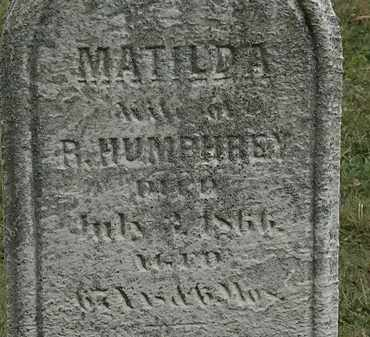 HUMPHREY, MATILDA - Lorain County, Ohio | MATILDA HUMPHREY - Ohio Gravestone Photos