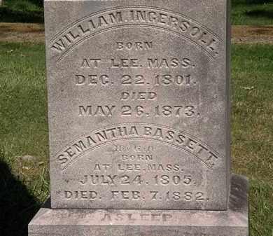 BASSETT INGERSOLL, SEMANTHA - Lorain County, Ohio | SEMANTHA BASSETT INGERSOLL - Ohio Gravestone Photos