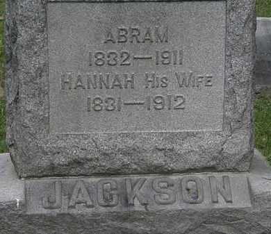 JACKSON, HANNAH - Lorain County, Ohio   HANNAH JACKSON - Ohio Gravestone Photos