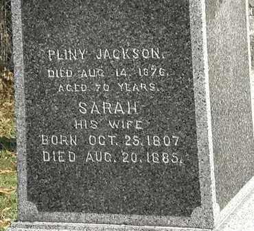 JACKSON, PLINY - Lorain County, Ohio | PLINY JACKSON - Ohio Gravestone Photos