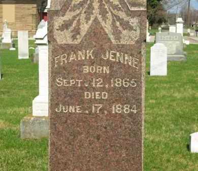 JENNE, FRANK - Lorain County, Ohio   FRANK JENNE - Ohio Gravestone Photos