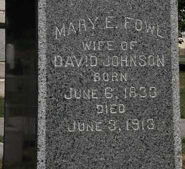FOWL JOHNSON, MARY E. - Lorain County, Ohio | MARY E. FOWL JOHNSON - Ohio Gravestone Photos