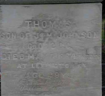 JOHNSON, THOMAS - Lorain County, Ohio   THOMAS JOHNSON - Ohio Gravestone Photos