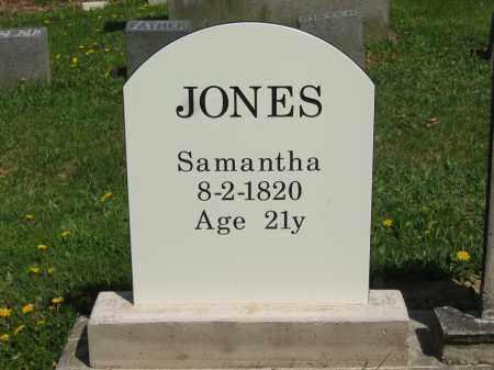 JONES, SAMANTHA - Lorain County, Ohio   SAMANTHA JONES - Ohio Gravestone Photos