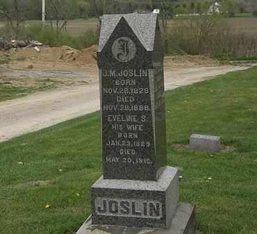 JOSLIN, J.M. - Lorain County, Ohio   J.M. JOSLIN - Ohio Gravestone Photos