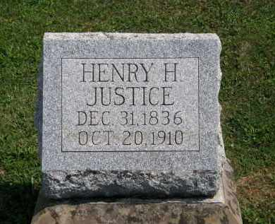 JUSTICE, HENRY H. - Lorain County, Ohio   HENRY H. JUSTICE - Ohio Gravestone Photos