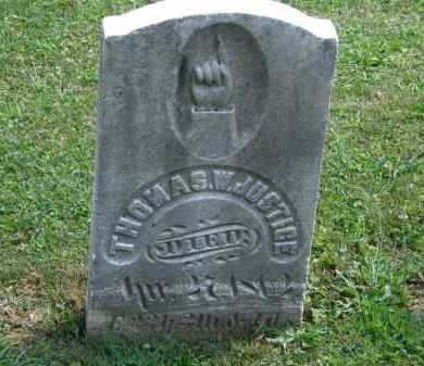 JUSTICE, THOMAS - Lorain County, Ohio | THOMAS JUSTICE - Ohio Gravestone Photos