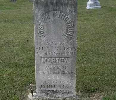 KINGSBURY, MARTHA - Lorain County, Ohio | MARTHA KINGSBURY - Ohio Gravestone Photos