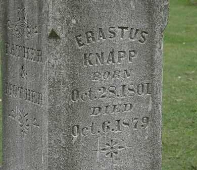 KNAPP, ERASTUS - Lorain County, Ohio   ERASTUS KNAPP - Ohio Gravestone Photos