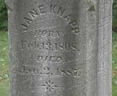 KNAPP, JANE - Lorain County, Ohio   JANE KNAPP - Ohio Gravestone Photos