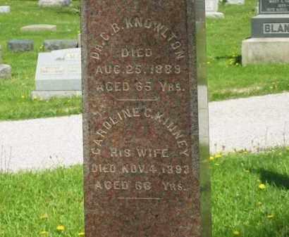 KNOWLTON, DR. C. B. - Lorain County, Ohio | DR. C. B. KNOWLTON - Ohio Gravestone Photos