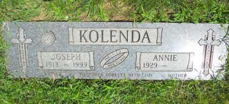 KOLENDA, JOSEPH - Lorain County, Ohio | JOSEPH KOLENDA - Ohio Gravestone Photos