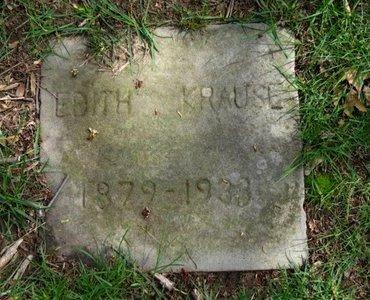 KRAUSE, EDITH - Lorain County, Ohio   EDITH KRAUSE - Ohio Gravestone Photos