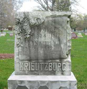 KRIEUTZBURG, ANNA - Lorain County, Ohio   ANNA KRIEUTZBURG - Ohio Gravestone Photos