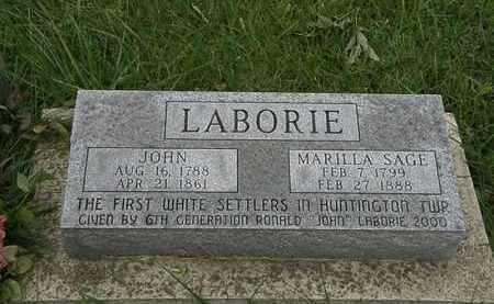 SAGE LABORIE, MARILLA - Lorain County, Ohio | MARILLA SAGE LABORIE - Ohio Gravestone Photos
