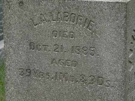 LABORIE, L. A. - Lorain County, Ohio | L. A. LABORIE - Ohio Gravestone Photos