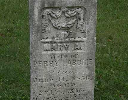LABORIE, MARY A. - Lorain County, Ohio | MARY A. LABORIE - Ohio Gravestone Photos