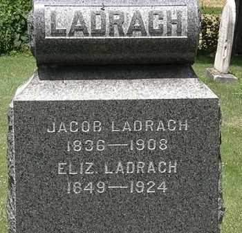 LADRACH, ELIZ. - Lorain County, Ohio | ELIZ. LADRACH - Ohio Gravestone Photos