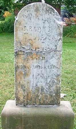 LAMB, GEORGE PATTERSON - Lorain County, Ohio | GEORGE PATTERSON LAMB - Ohio Gravestone Photos