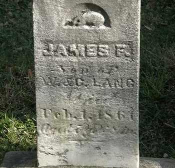 LANG, JAMES F. - Lorain County, Ohio | JAMES F. LANG - Ohio Gravestone Photos