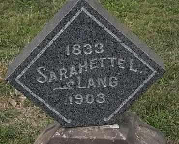 LANG, SARAHETTE L. - Lorain County, Ohio | SARAHETTE L. LANG - Ohio Gravestone Photos
