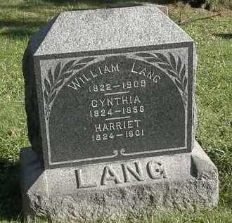 LANG, HARRIET - Lorain County, Ohio   HARRIET LANG - Ohio Gravestone Photos