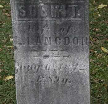 LANGDON, SUBMIT - Lorain County, Ohio   SUBMIT LANGDON - Ohio Gravestone Photos