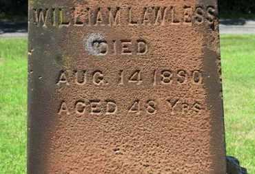 LAWLESS, WILLIAM - Lorain County, Ohio | WILLIAM LAWLESS - Ohio Gravestone Photos