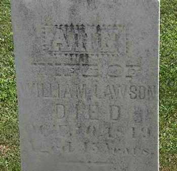 LAWSON, ANN - Lorain County, Ohio | ANN LAWSON - Ohio Gravestone Photos