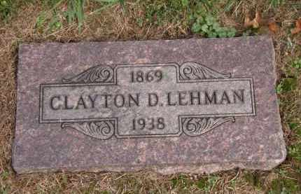 LEHMAN, CLAYTON D. - Lorain County, Ohio | CLAYTON D. LEHMAN - Ohio Gravestone Photos