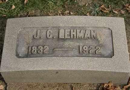 LEHMAN, J.C. - Lorain County, Ohio | J.C. LEHMAN - Ohio Gravestone Photos
