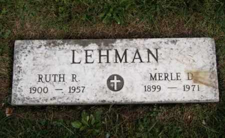 LEHMAN, RUTH R. - Lorain County, Ohio | RUTH R. LEHMAN - Ohio Gravestone Photos