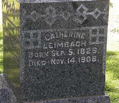 LEIMBACH, CATHERINE - Lorain County, Ohio | CATHERINE LEIMBACH - Ohio Gravestone Photos
