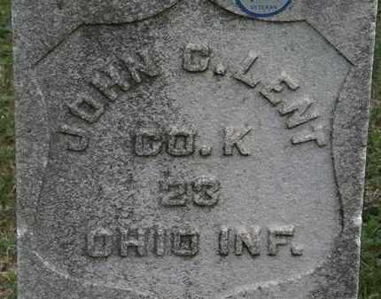 LENT, JOHN C. - Lorain County, Ohio | JOHN C. LENT - Ohio Gravestone Photos