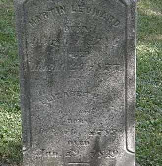 LEONARD, MARTIN - Lorain County, Ohio   MARTIN LEONARD - Ohio Gravestone Photos