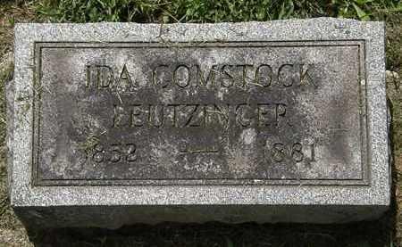 COMSTOCK LEUTZINGER, IDA - Lorain County, Ohio | IDA COMSTOCK LEUTZINGER - Ohio Gravestone Photos