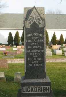 LICKORISH, JOB - Lorain County, Ohio | JOB LICKORISH - Ohio Gravestone Photos