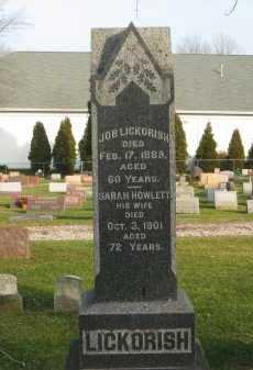 HOWLETT LICKORISH, SARAH - Lorain County, Ohio | SARAH HOWLETT LICKORISH - Ohio Gravestone Photos